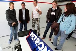 Meet and talk with Sebastian Vettel in the BMW Sauber F1 Garage