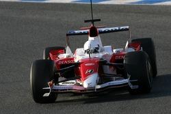 Timo Glock, Toyota F1 Team on slick tyres