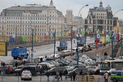 Kamaz-Master ceremonial start on the Red Square in Moscow: Kamaz-Master leaves Moscow for Lisboa