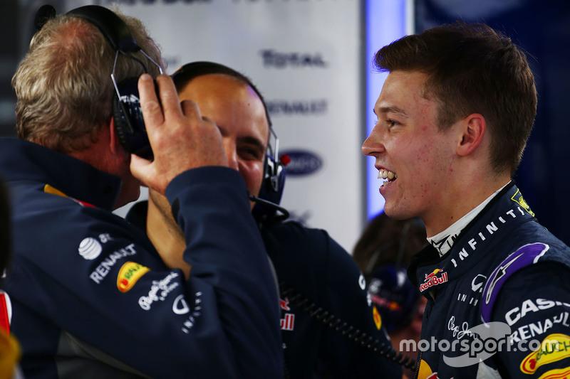 Dr. Helmut Marko, Red Bull Motorsport-Berater, mit Gianpiero Lambiase, Red Bull Racing, Ingenieur, u