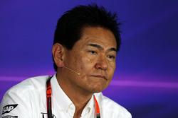 Yasuhisa Arai, Honda Motorsport Chief Officer in de FIA persconferentie