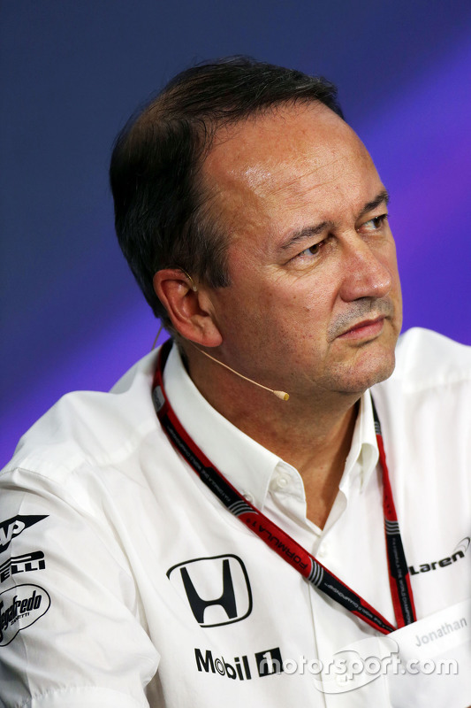 Jonathan Neale, McLaren Chief Operating Officer int the FIA Press Conference
