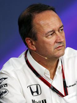 Jonathan Neale, CEO McLaren lors de la conférence de presse de la FIA