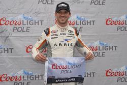 Polesitter Daniel Suarez, Joe Gibbs Racing Toyota