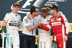 Podium: Race winner Lewis Hamilton, Mercedes AMG F1 Team, second place Nico Rosberg, Mercedes AMG F1 Team, third place Sebastian Vettel, Ferrari