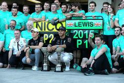Race winner Lewis Hamilton, Mercedes AMG F1 Team, Nico Rosberg, Mercedes AMG F1 Team
