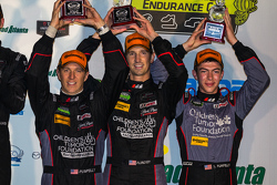 GTD winners #73 Park Place Motorsports Porsche 911 GT America: Patrick Lindsey, Spencer Pumpelly, Madison Snow