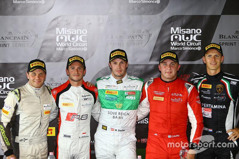 Polesitter: Marco Seefried and Norbert Siedler, Rinaldi Racing with Stéphane Richelmi, Belgian Audi