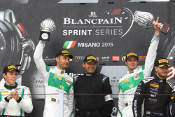 Podium: winners Marco Seefried, Norbert Siedler, Rinaldi Racing