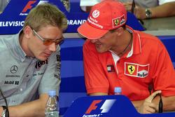 Mika Hakkinen, McLaren y Michael Schumacher, Ferrari