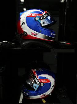 El casco de Jolyon Palmer, Lotus F1 Team Piloto de Pruebas y de Reserva
