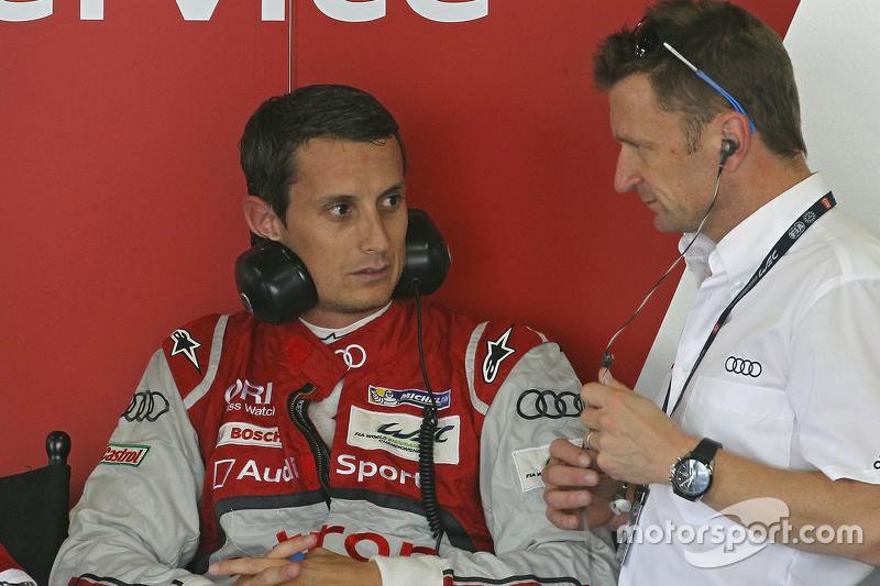 Allan McNish with Oliver Jarvis, Audi Sport Team Joest