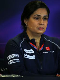 Мониша Кальтенборн, руководитель Sauber Team на пресс-конференции FIA