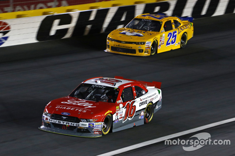 Ryan Reed, Roush Fenway Racing Ford and John Wes Townley, Athenian Motorsports Chevrolet