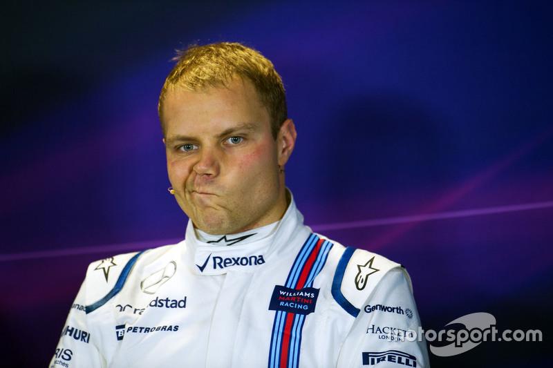 Valtteri Bottas, Williams in the post qualifying FIA Press Conference