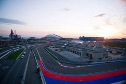 The circuit at sunrise