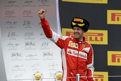 Il secondo classificato Sebastian Vettel, Ferrari
