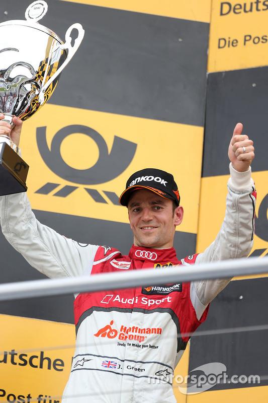 Podium: second place Jamie Green, Audi Sport Team Rosberg Audi RS 5 DTM