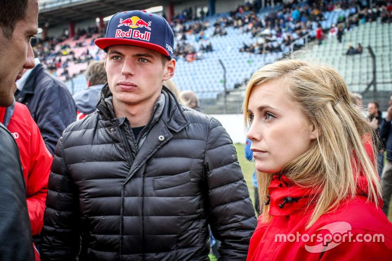 Max Verstappen, Scuderia Toro Rosso ve kız arkadaşı Mikaela Ahlin-Kottulinsky ,