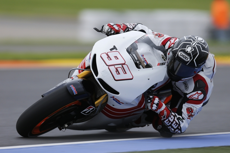 Moto2 World Champion Marc Marquez makes his debut di Repsol Honda Team MotoGP bike