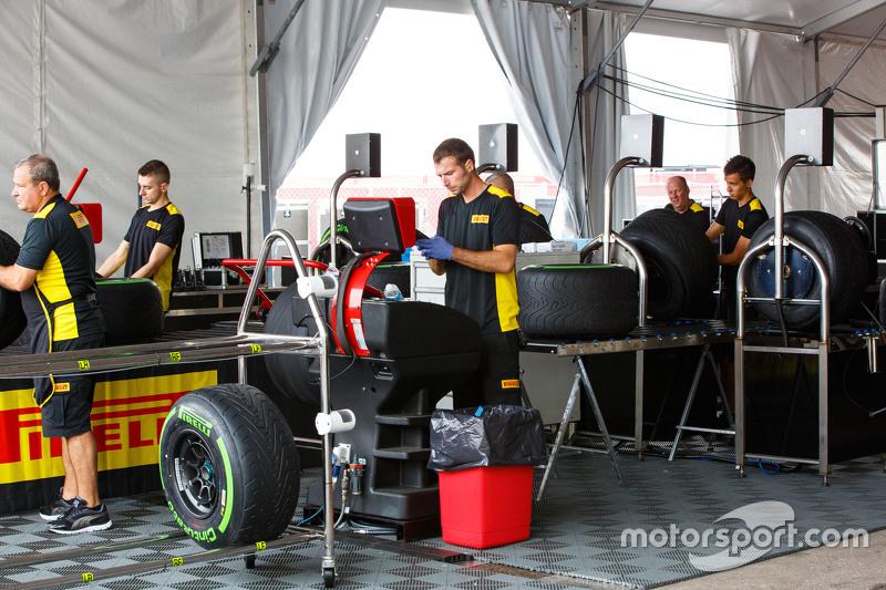 Pirelli tyre engineers