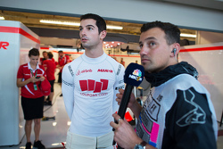 Alexander Rossi, Manor Marussia F1 Team with Will Buxton, NBC Sports Network TV Presenter
