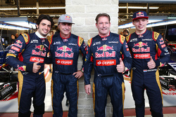 Carlos Sainz Jr., Scuderia Toro Rossomet vader Carlos Sainz, Jos Verstappen met zoon Max Verstappen,