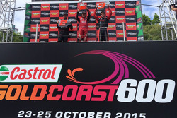 Podium: winner Sheldon Creed, second place Robby Gordon, third place Scotty Steele