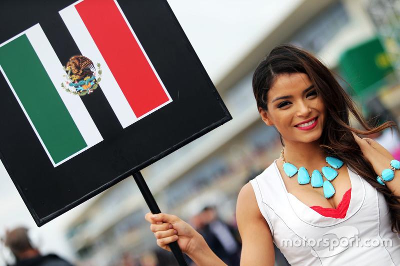 Chica de la parrilla para Sergio Pérez GP de Estados Unidos