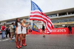 赛车女郎,美国国旗