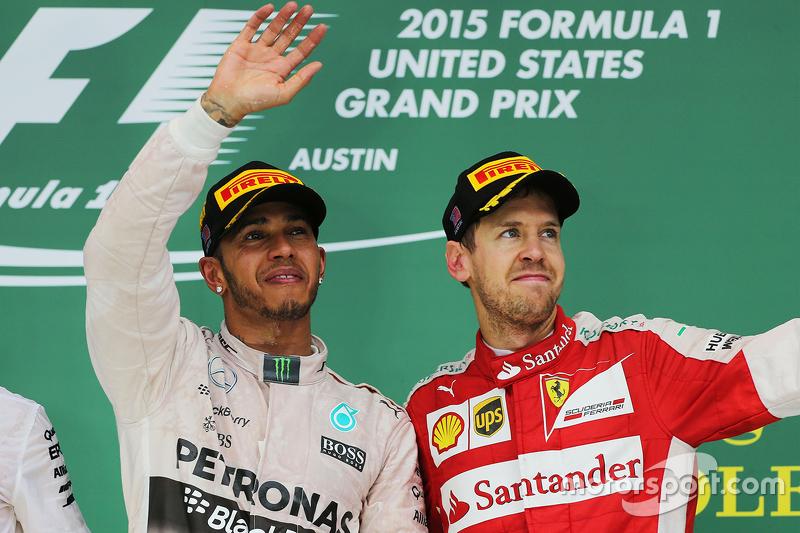Podium: Race winner and World Champion Lewis Hamilton, Mercedes AMG F1, and third place Sebastian Ve