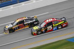 Clint Bower, Michael Waltrip Racing Toyota and Ryan Newman, Richard Childress Racing Chevrolet
