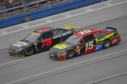 Clint Bower, Michael Waltrip Racing Toyota and Martin Truex Jr., Furniture Row Racing Chevrolet