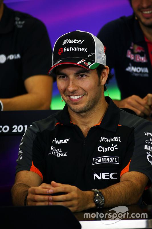 Sergio Perez, Sahara Force India F1 in de FIA persconferentie