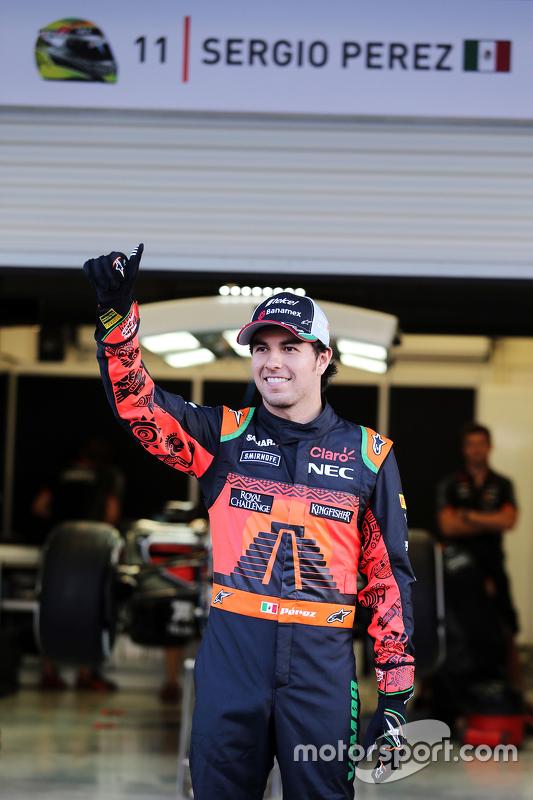 سيرجيو بيريز، فورس إنديا بكسوة خاصة بسباق المكسيك