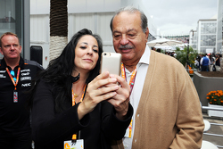Carlos Slim, Business Magnate, with the Sahara Force India F1 Team