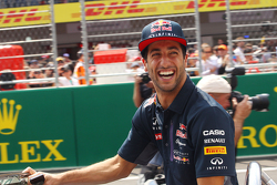 Daniel Ricciardo, Red Bull Racing on the drivers parade.