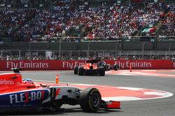 Alexander Rossi, Manor Marussia F1 Team leads team mate Will Stevens, Manor Marussia F1 Team