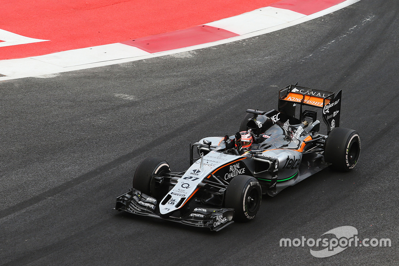 Ніко Хюлкенберг, Sahara Force India F1 VJM08 на завершенні гонки