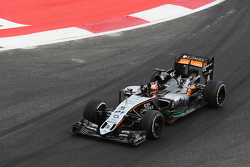 Nico Hulkenberg, Sahara Force India F1 VJM08 aan de finish