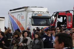 Equipa Padock, Mundo Dakar event: service truck