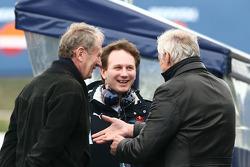 Helmut Marko, Red Bull Racing, Red Bull Advisor, Christian Horner, Red Bull Racing, Sporting Director and Dietrich Mateschitz, Owner of Red Bull