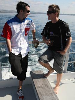 Neel Jani, driver of A1 Team Switzerland and Jonny Reid, driver of A1 Team New Zealand