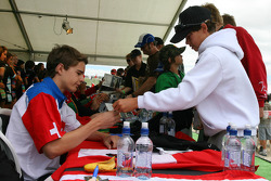 Tom Dilman, driver of A1 Team Switzerland, Autograph Session