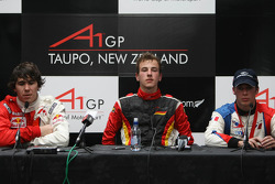 Press conference: race winner Christian Vietoris with Robert Wickens and Loic Duval