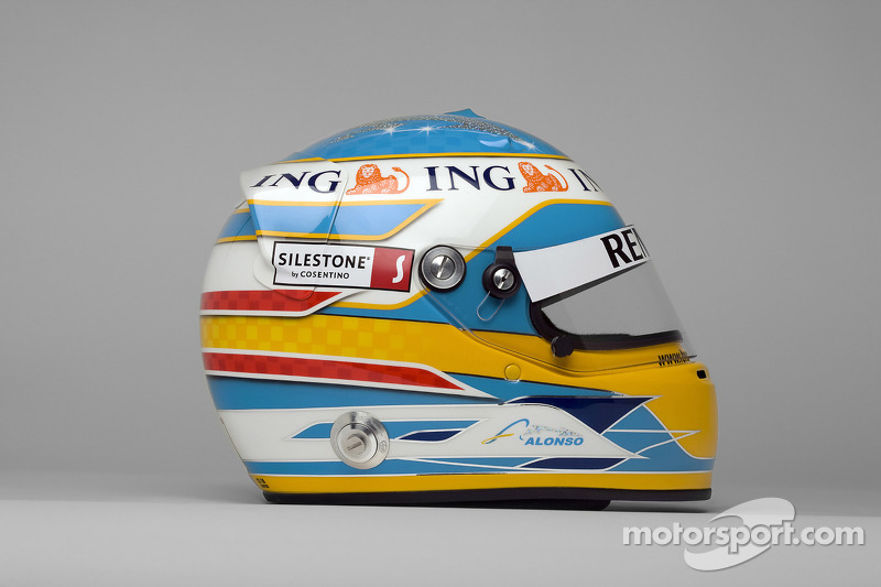 Casco de Fernando Alonso en 2008