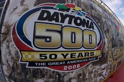 Daytona 500 signage at the media day