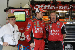 Carl Edwards with Jack Roush and crew chief Bob Osborne