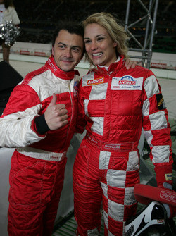 Franck Lagorce and Elodie Gossuin