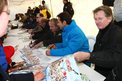 Jean-Pierre Beltoise and Erik Comas and Jacques Laffite